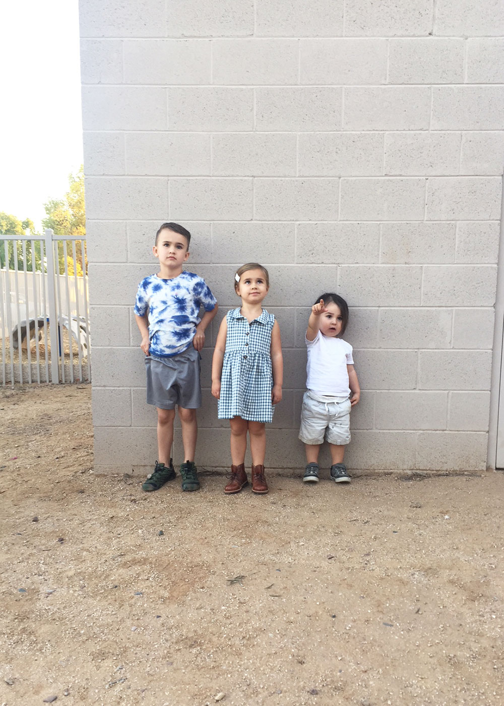 my three little kids ready for the school hoedown carnival | thelovedesignedlie.com