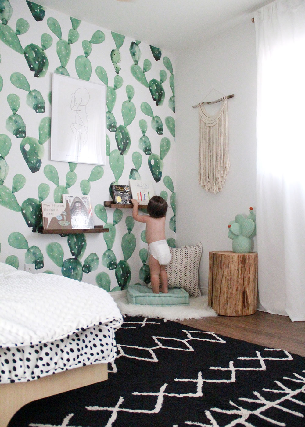 our boys' big boy shared modern desert cactus room reveal! | thelovedesignedlife.com