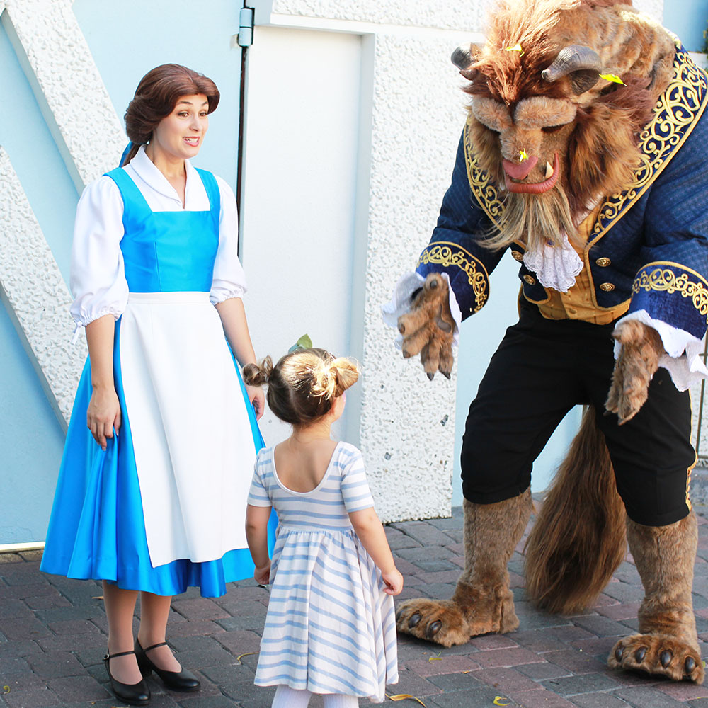 when you get to meet belle of beauty and the beast at disneyland up close and personal, it's a good day | thelovedesignedlife.com