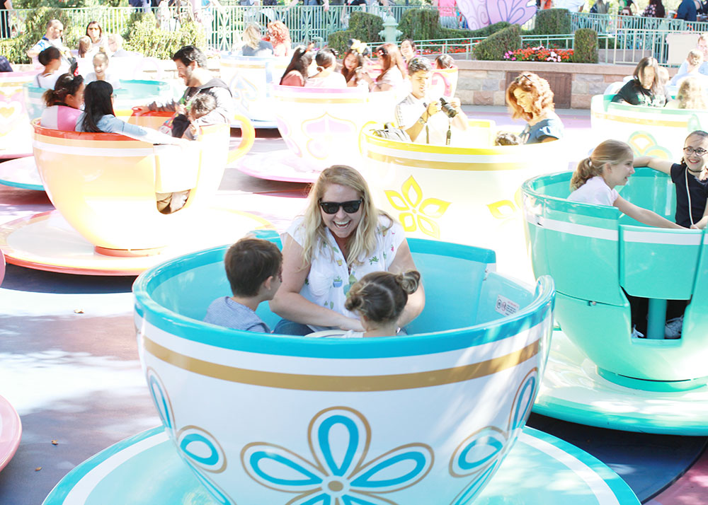 the teacups with their titi at disneyland | thelovedesignedlife.com
