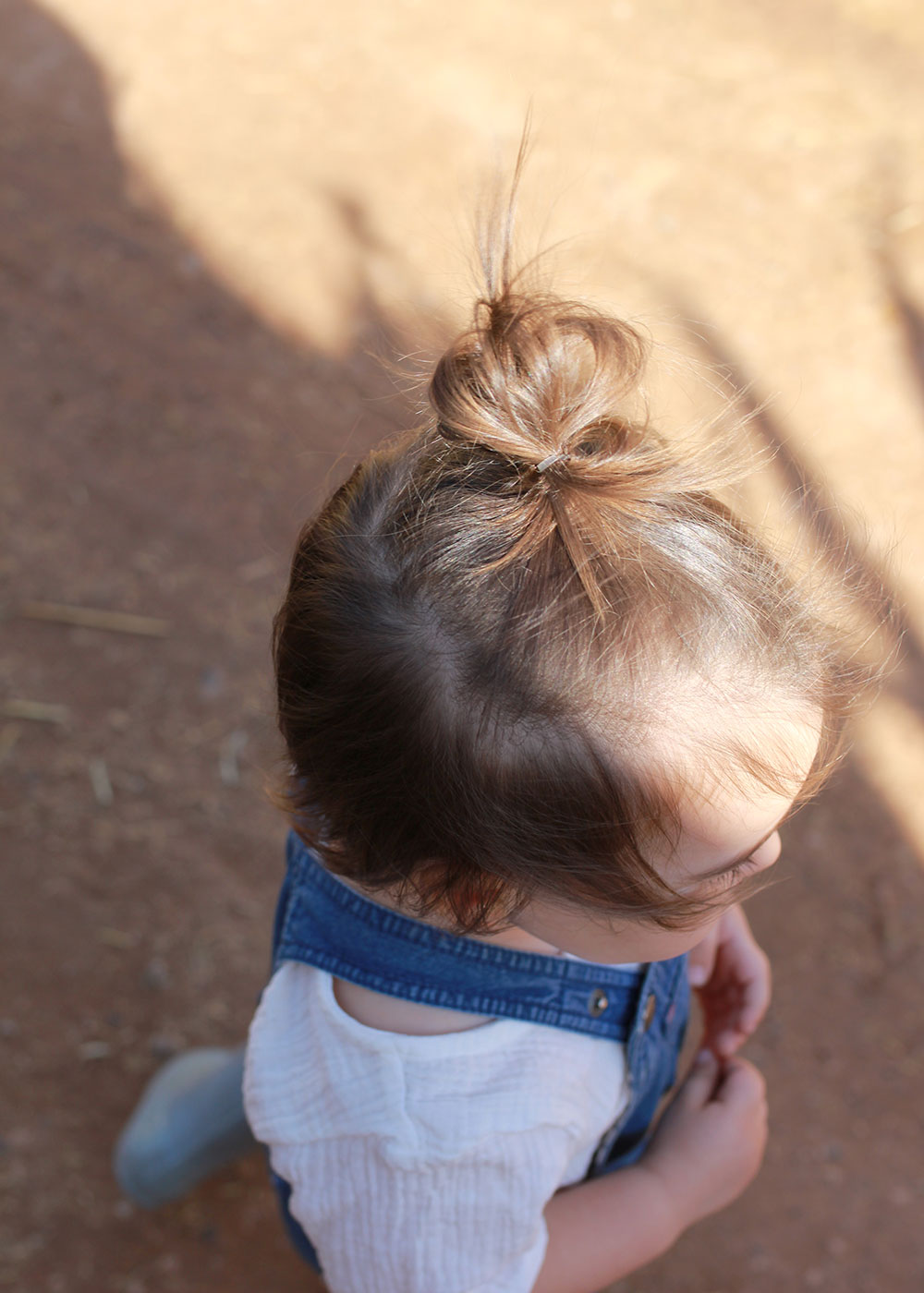 this baby man bun gives me life | thelovedesignedlife.com