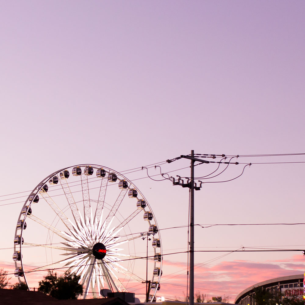 sunset over the arizona state fair | thelovedesignedlife.com
