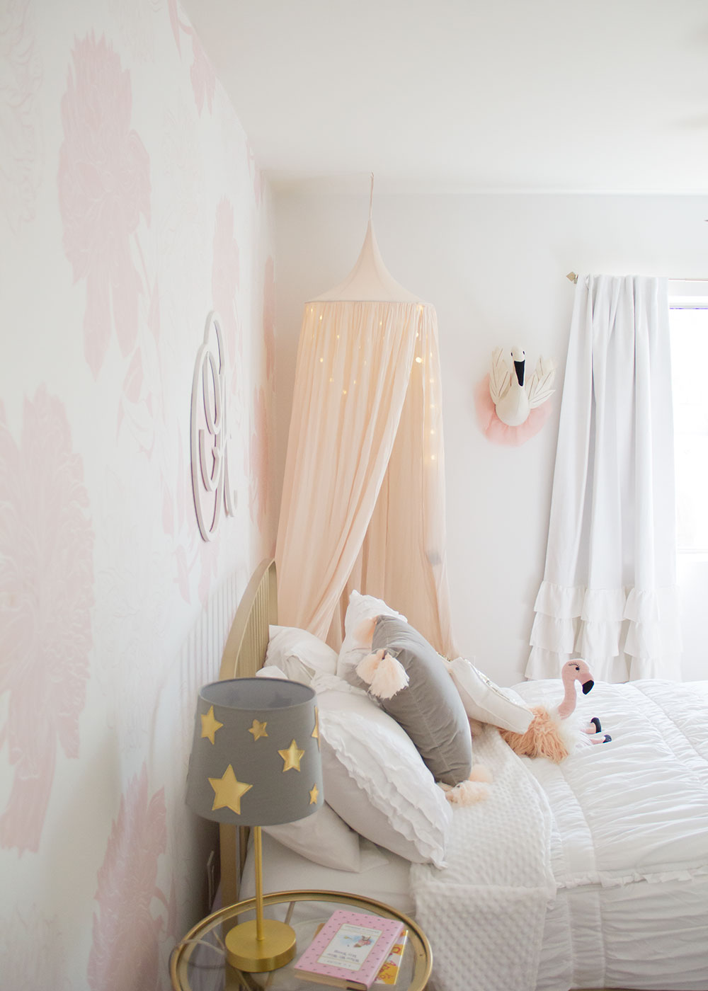 my big girl's pretty in pink room reveal | thelovedesignedlife.com