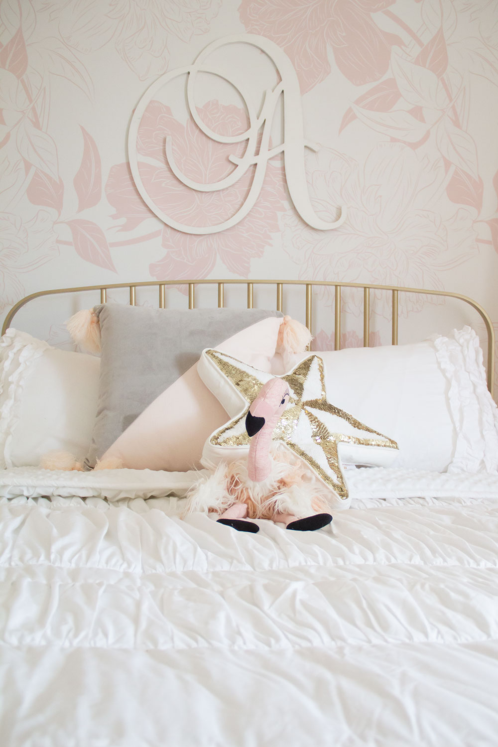 pretty in pink big girl room reveal | thelovedesignedlife.com