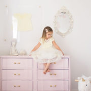 refinishing a french provencial dresser for a little girls room | thelovedesignedlife.com