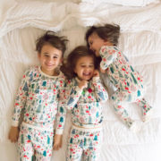 the sweetest siblings in matching christmas jammies! | thelovedesignedlife.com #theldltwelvedaysofgiveaways