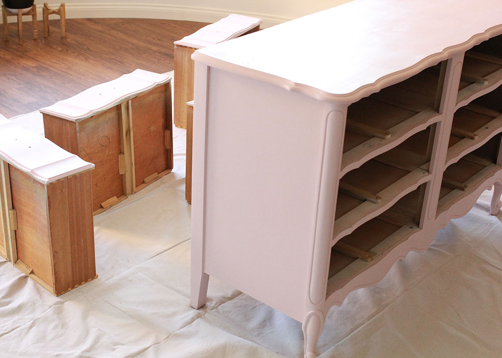 french provencial dresser refinish: after | thelovedesignedlife.com