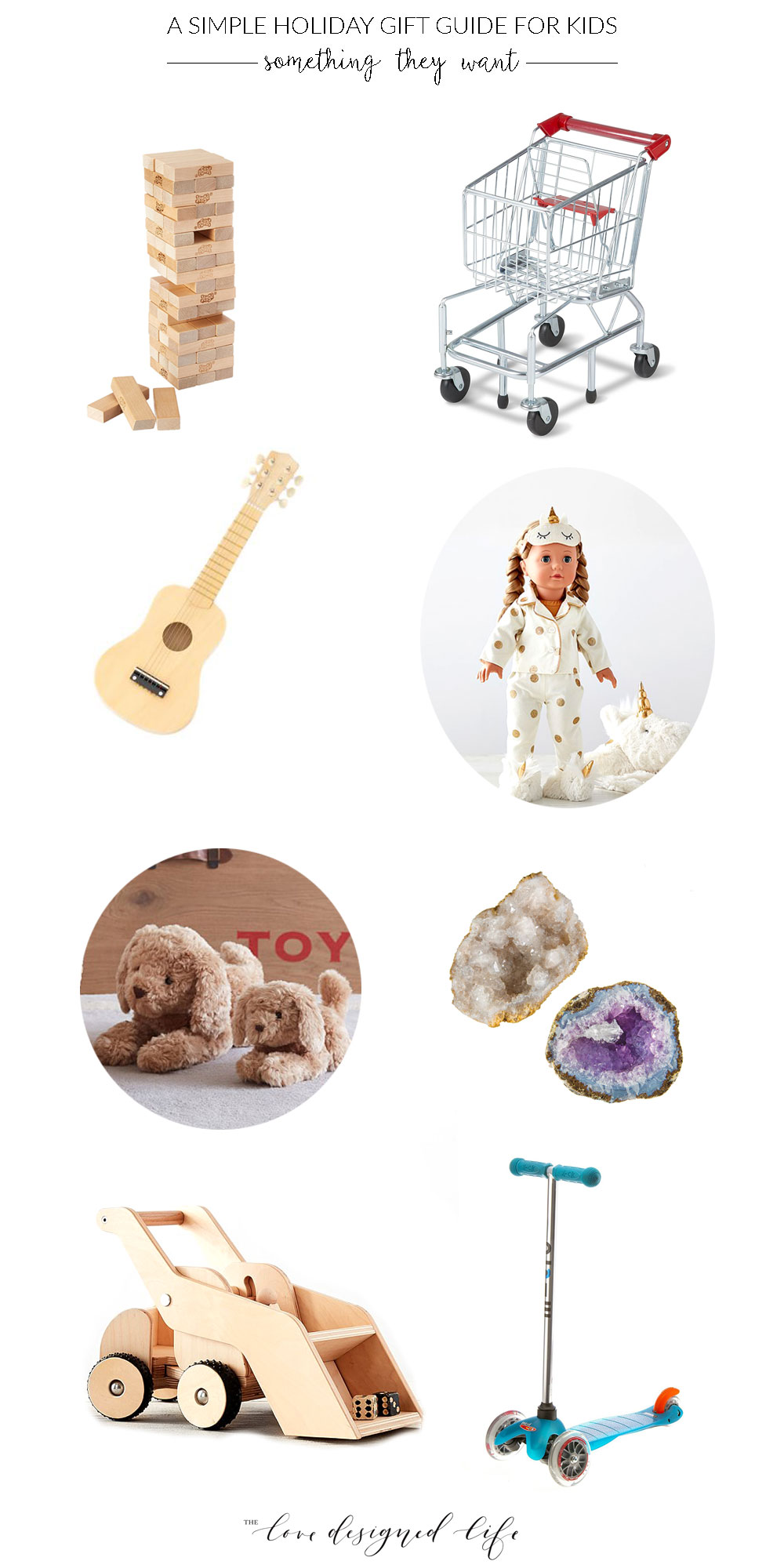 a simple holiday gift guide for kids - something they want | thelovedesignedlife.com