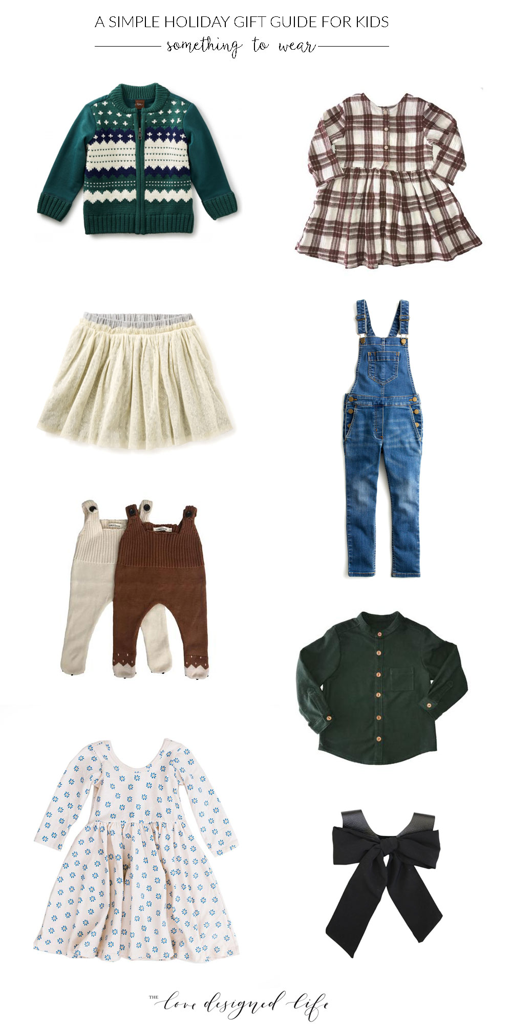 a simple holiday gift guide for kids - something to wear | thelovedesignedlife.com