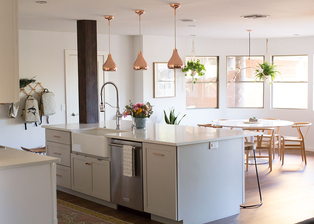 our modern boho kitchen reveal is up! | thelovedesignedlife.com