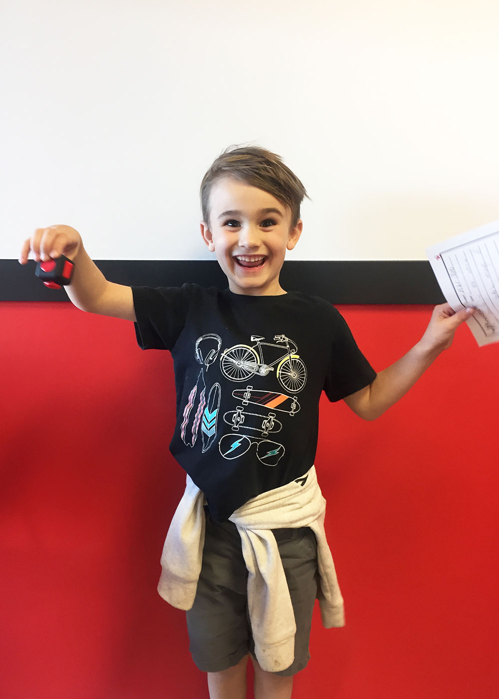 when he earned himself a prize at mathnasium | thelovedesignedlife.com #mathnasiumphoenix