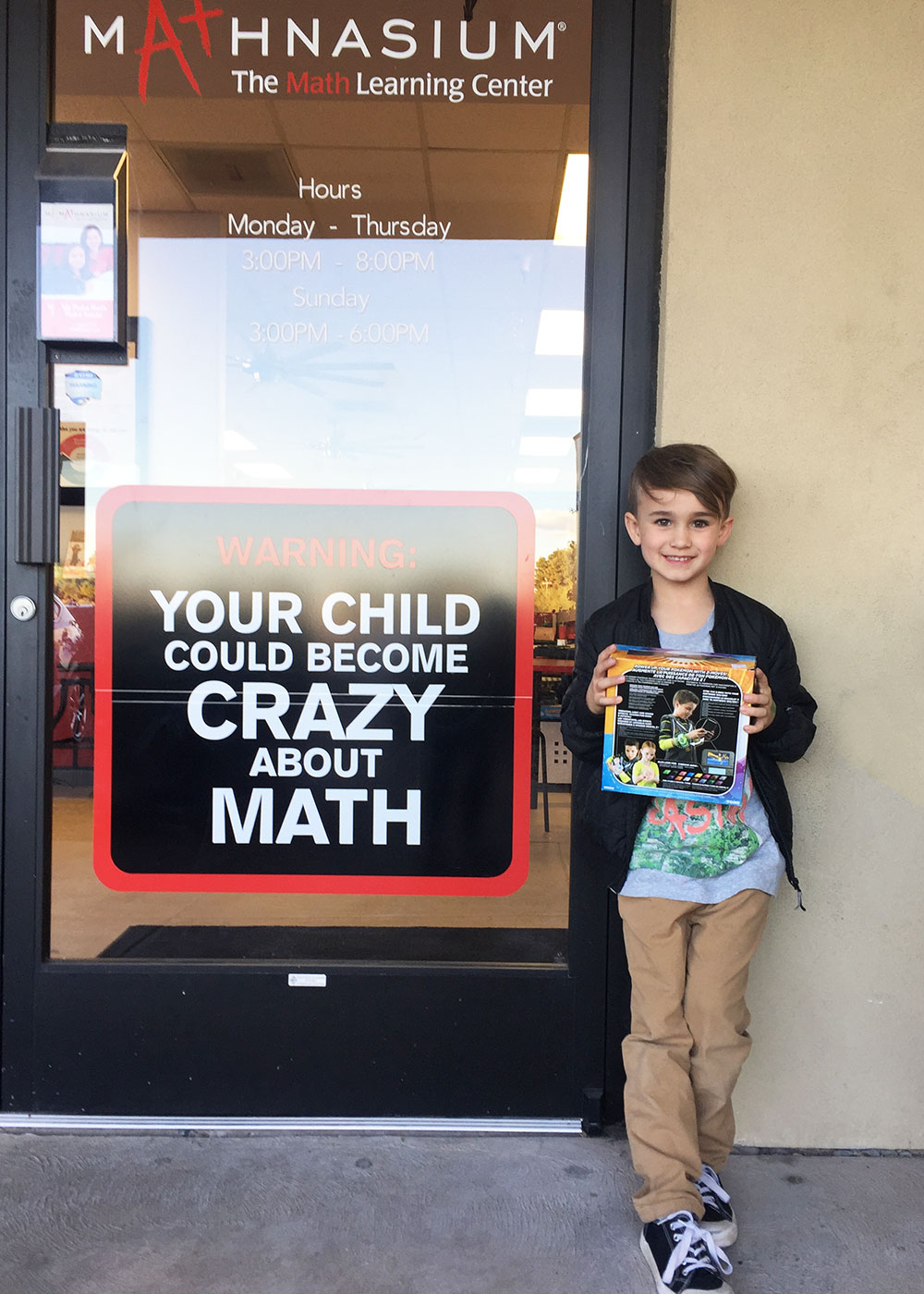 prize he earned on the last day of before break | thelovedesignedlife.com #mathnasium #afterschool #math