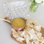 a clean recipe for vegan queso dip. perfect for your super bowl party! | thelovedesignedlife.com