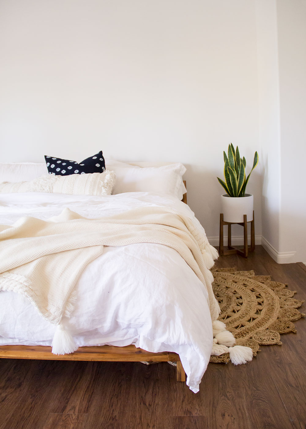 all of the resources for our new modern bohemian master bedroom | thelovedesignedlife.com