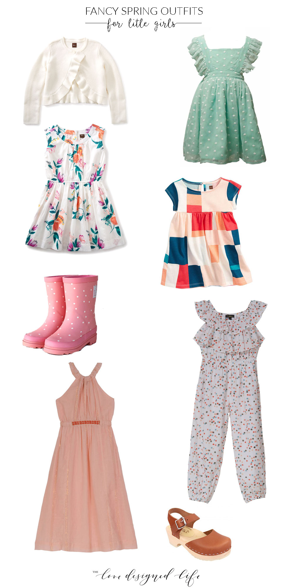 a roundup of this year's best fancy spring outfits for little girls | thelovedesignedlife.com #springdresses #easterdresses #littlegirlsdresses