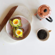 my absolute favorite breakfast, avocado gluten free toast with a poached egg. and coffee! | thelovedesignedlife.com #breakfastideas