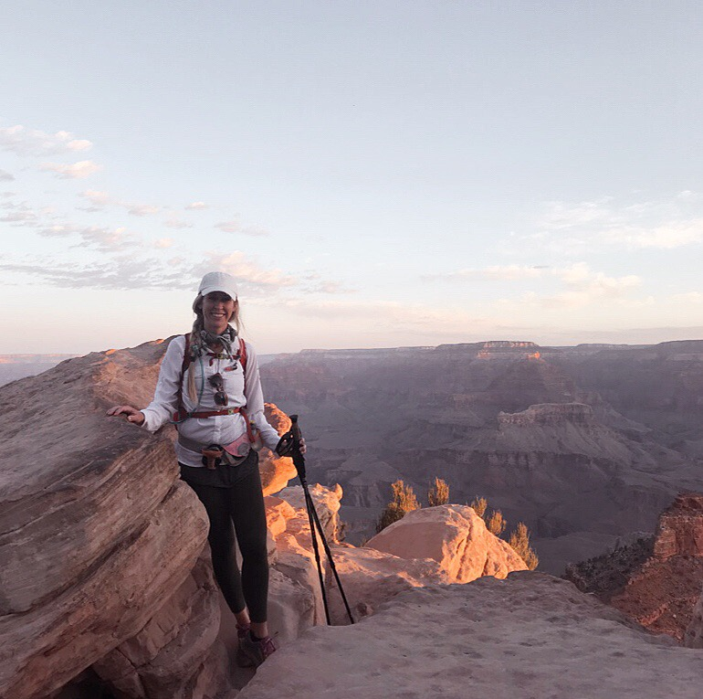me at the start of our rim-to-rim grand canyon hike