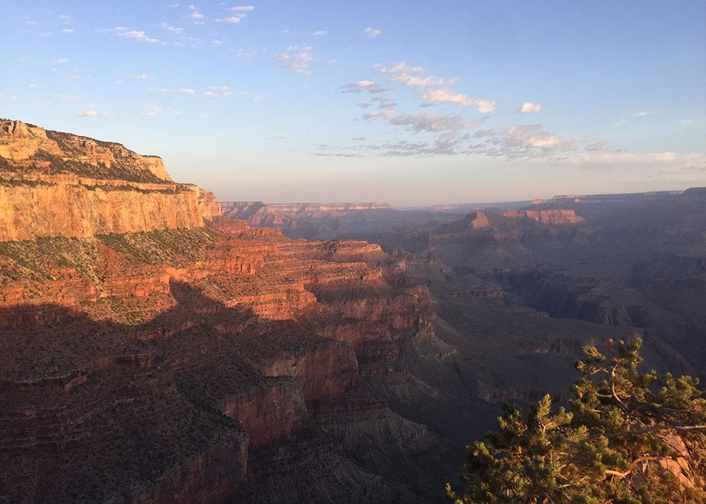the grand canyon south rim at sunrise   thelovedesignedlife.com