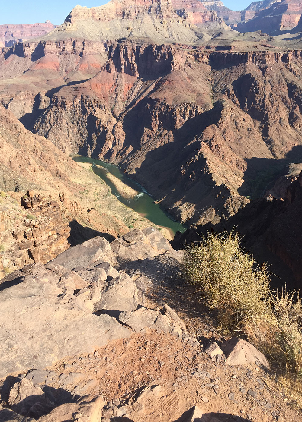 our first peek at the colorado river on our grand canyon rim-to-rim hike | thelovedesignedlife.com