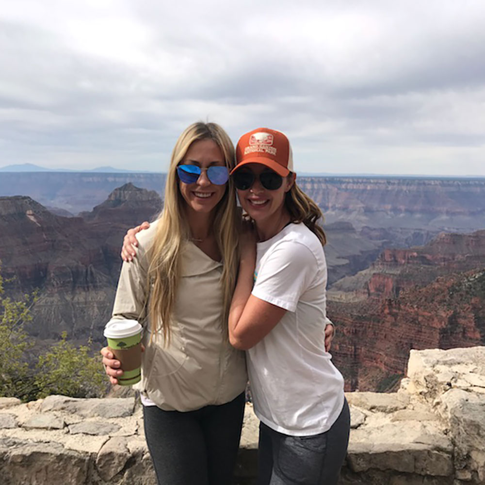 my girl megan and I at the North Rim of the Grand Canyon after our rim-to-rim hike   thelovedesignedlife.com #grandcanyon