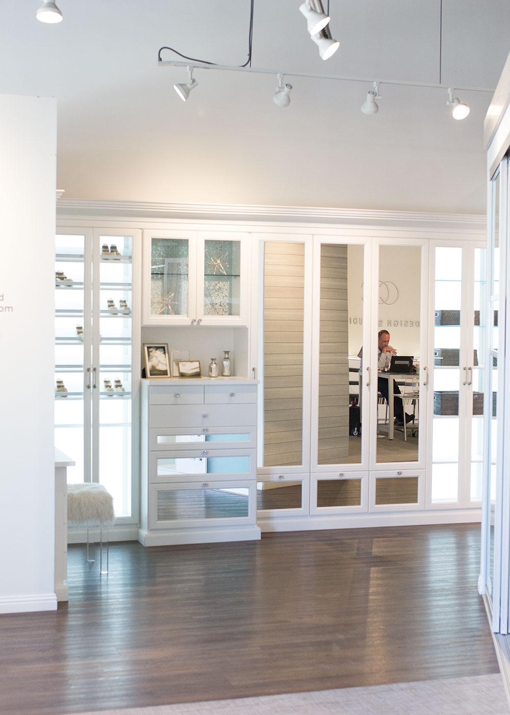love this master closet idea at the california closets showroom   thelovedesignedlife.com #mariekondoxcaclosets