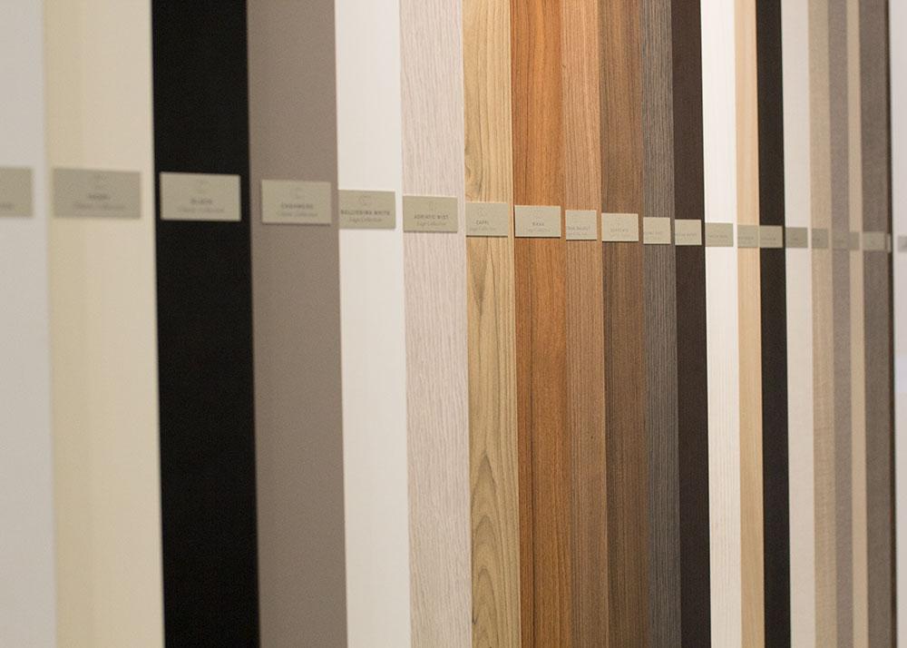 so many pretty cabinet options in the california closets showroom   thelovedesignedlife.com #closetorganization