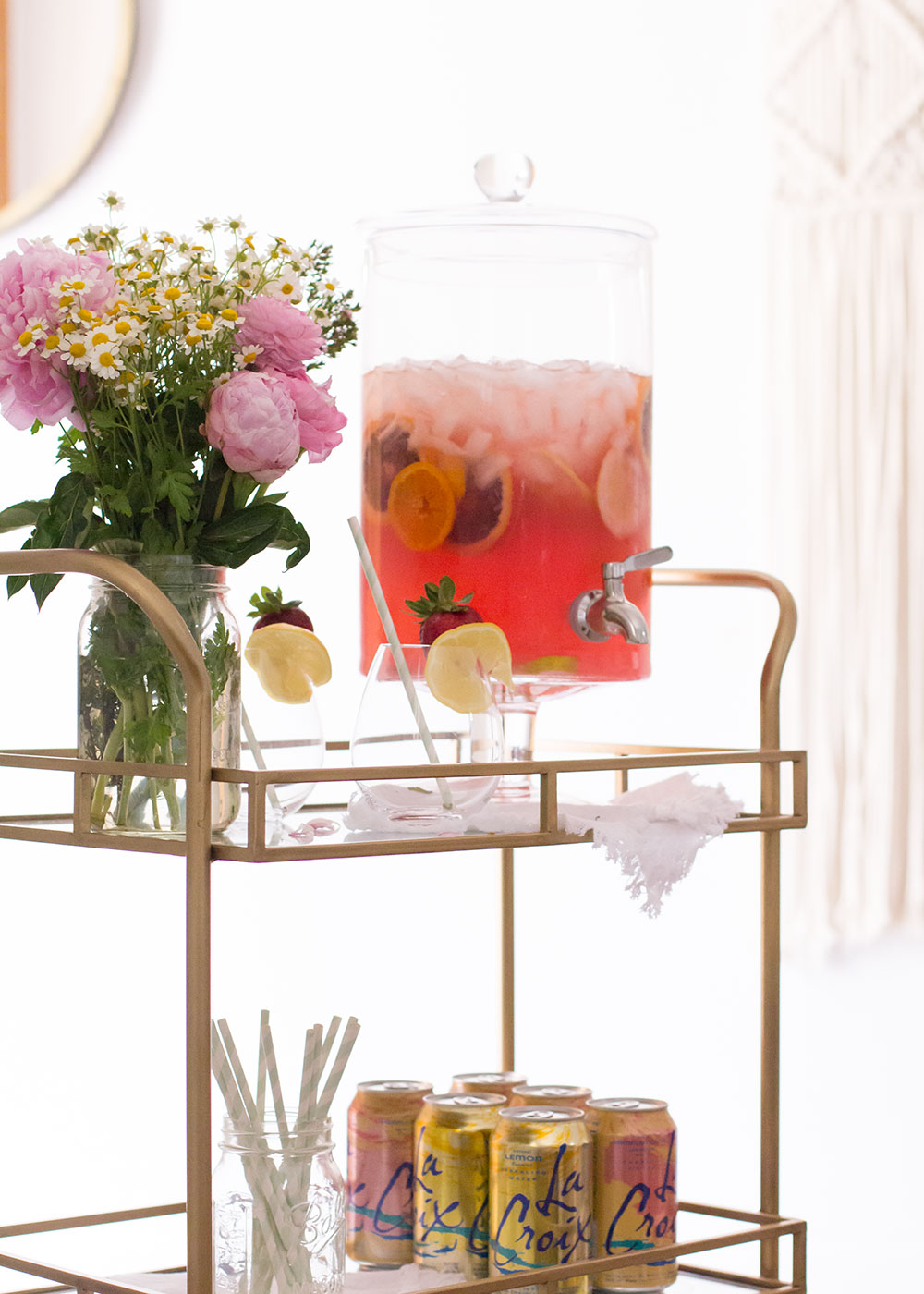the prettiest pink sangria! | thelovedesignedlife.com