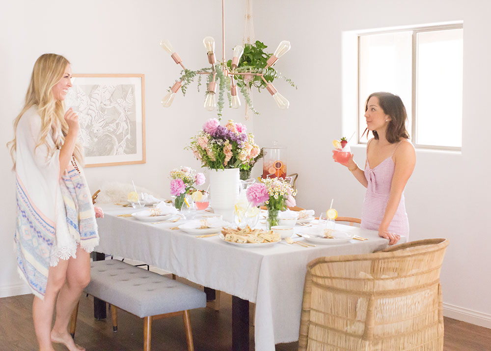 love the girlfriends of mine at our mother's day luncheon | thelovedesignelife.com