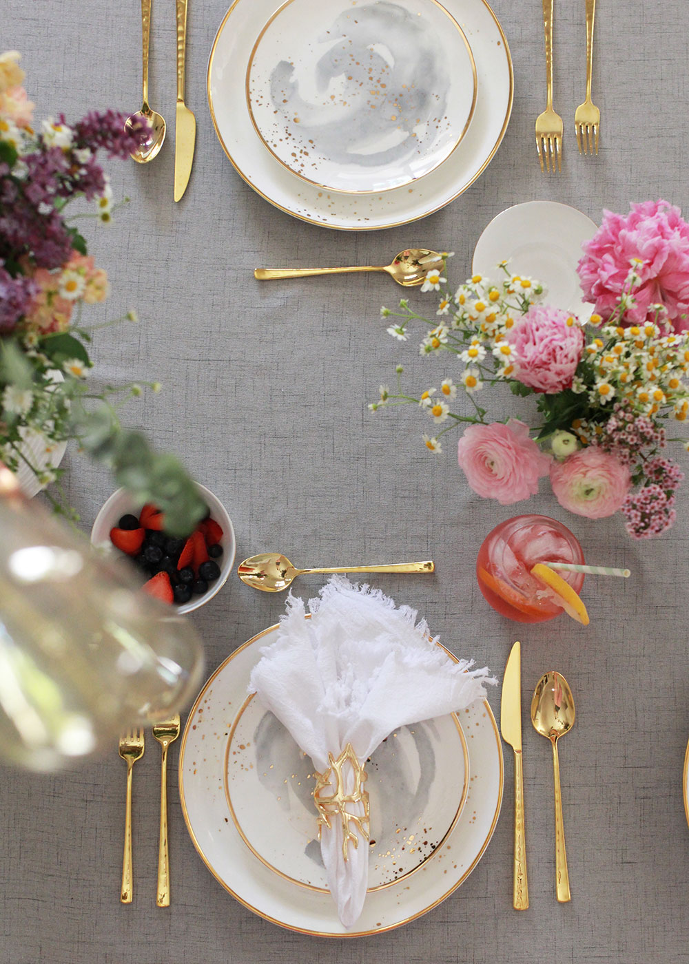 the most gorgeous dinnerware from Olivia & Oliver | thelovedesignedlife.com #tablescape #mothersday