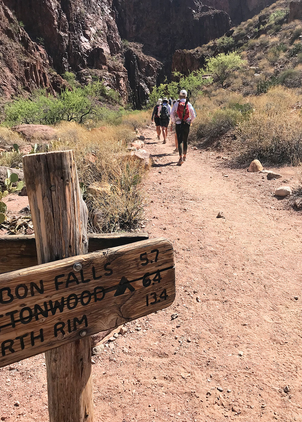 leaving phantom ranch and on to ribbon falls in our grand canyon hike   thelovedesignedlife #grandcanyon #rimtorim