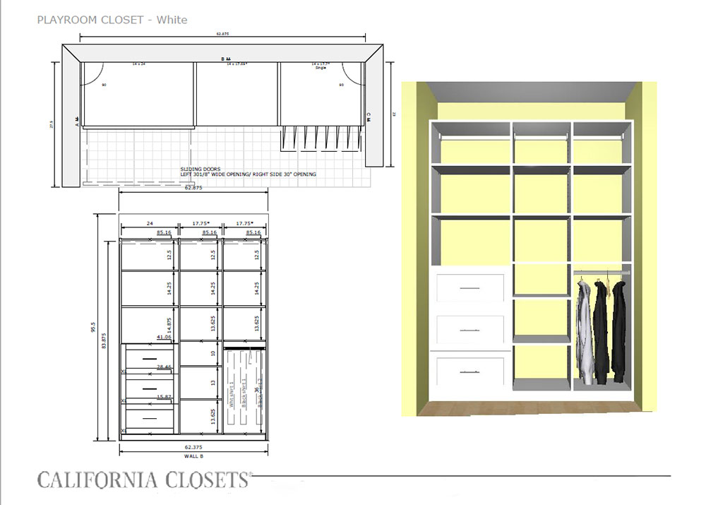 our playroom closet system plan by california closets | thelovedesignedlife.com