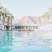 the most dreamy mid-century pool during our desert resort giveaway | thelovedesignedlife.com #mountainshadows #getaway