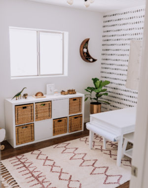 all the details from our tiny playroom reveal on the blog today! | thelovedesignedlife.com #playroom #boho