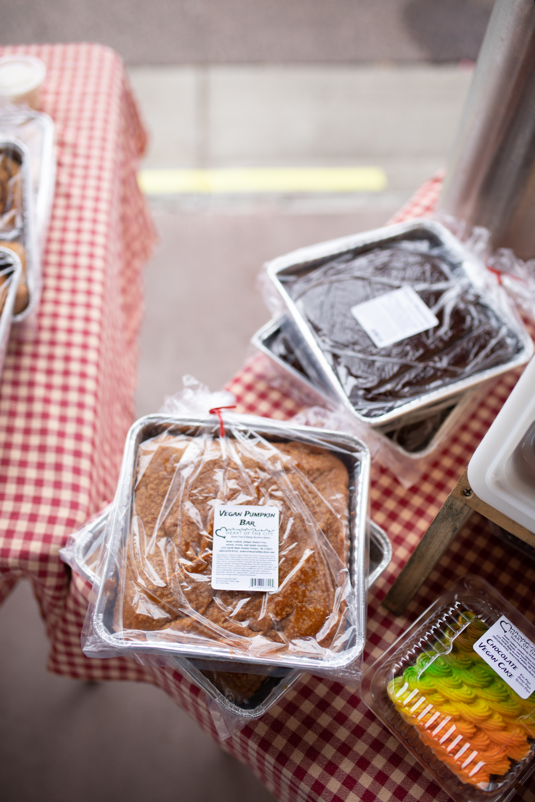 vegan baked goodness at the falls park farmers market, south dakota | thelovedesignedlife.com #vegan #farmersmarket #familytravel