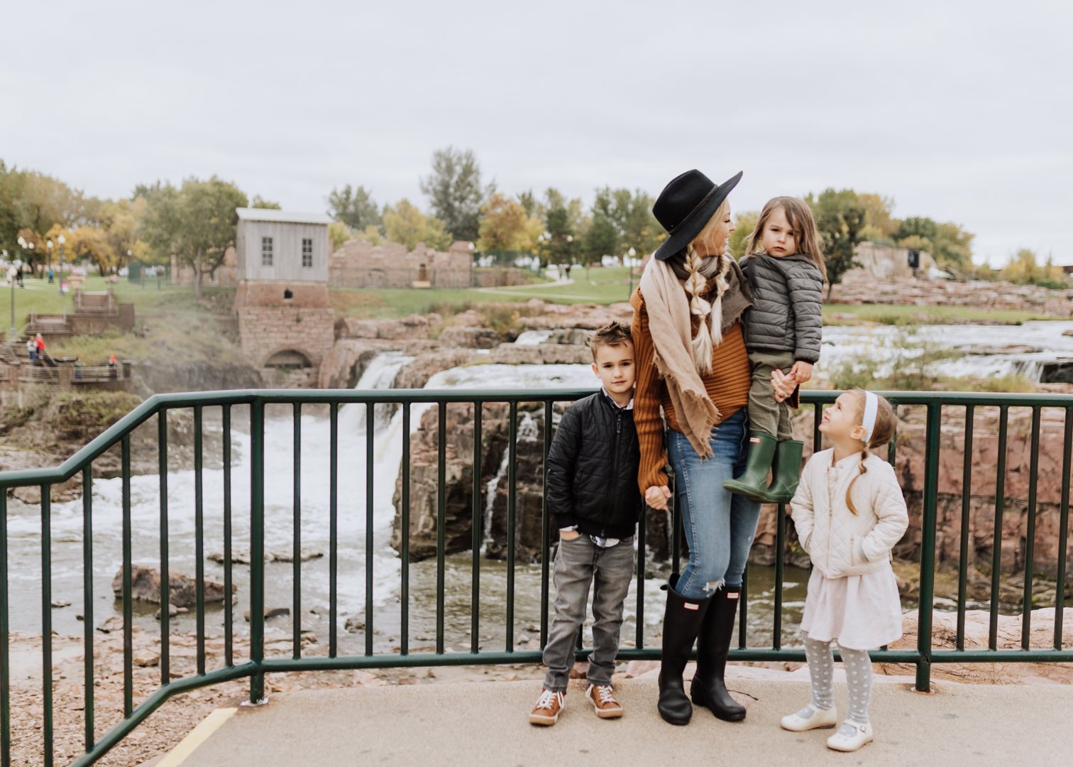 our family at falls park in south dakota | thelovedesignedlife.com #seasonsofsodak #sweaterweather #familytravel