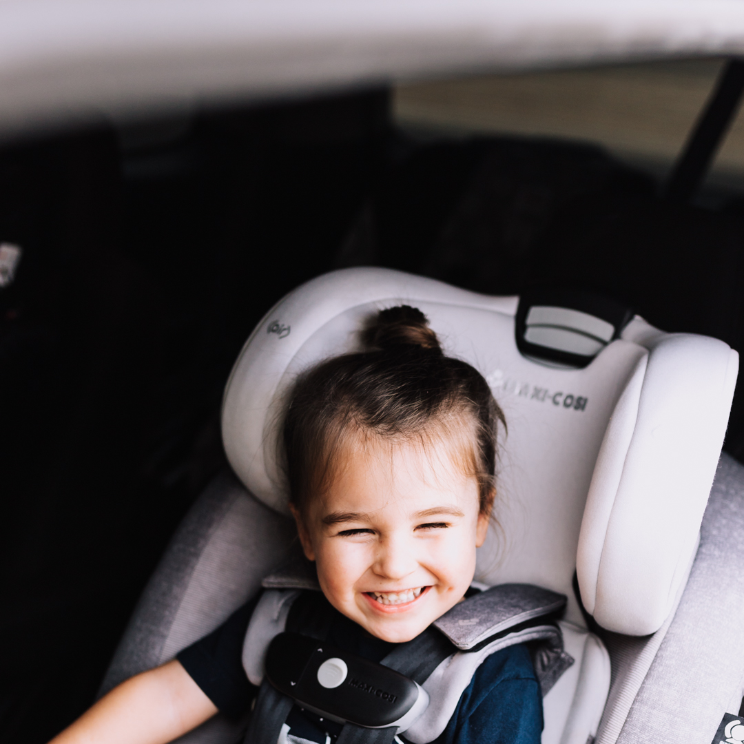 riding in his new maxi-cosi all in one carseat | thelovedesignedlife.com #carseat #everydayadventures
