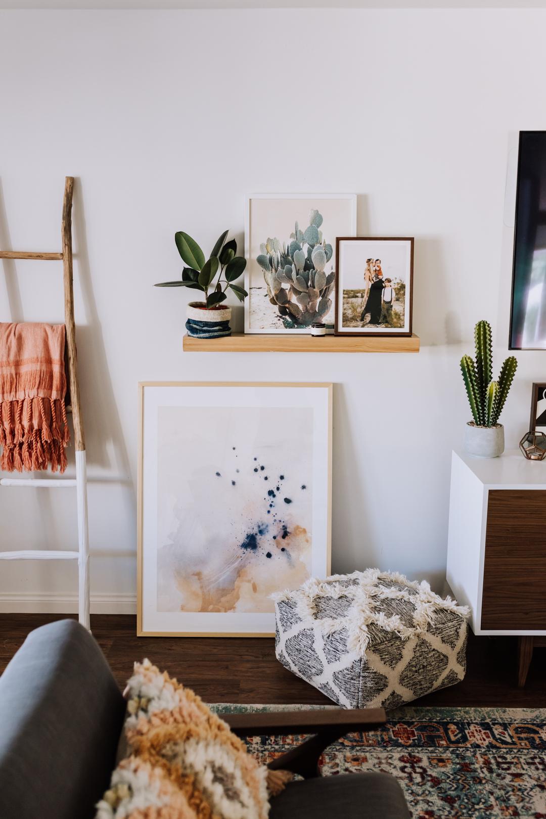 all artwork came from minted.com! | thelovedesignedlife.com #mintedart #theldlhome #livingroom #interiordesign #bohomodern