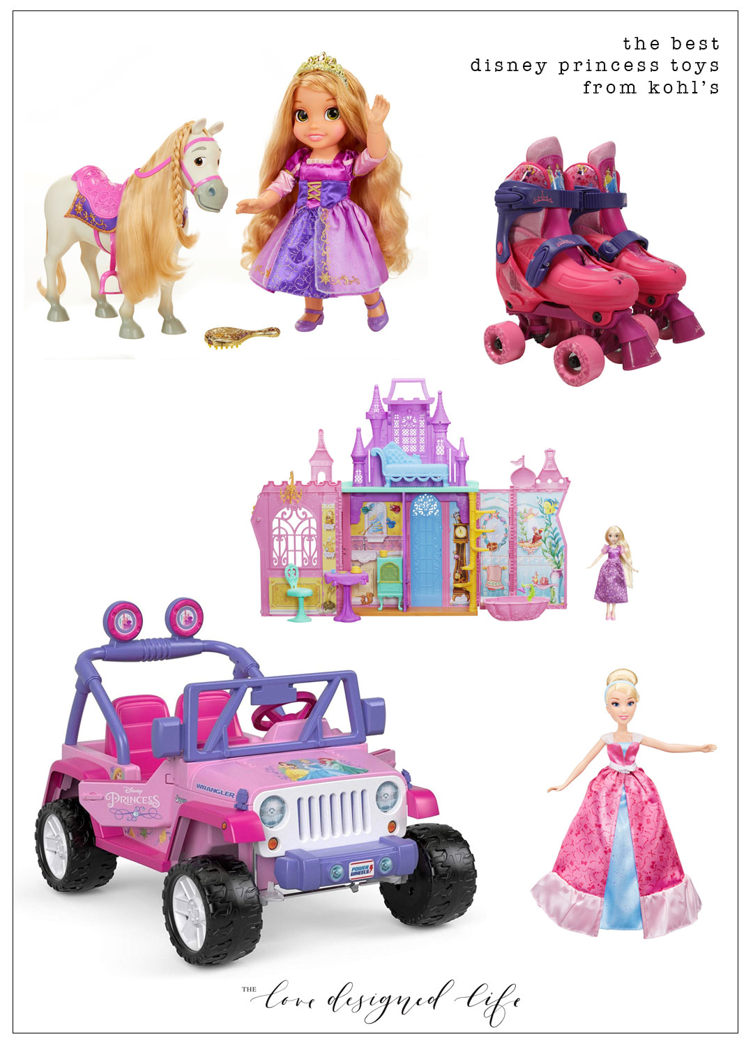 the best disney princess toys from kohl's for the holidays | thelovedesignedilfe.com @kohls #ad #disneyprincess #besttoys #holiday2018