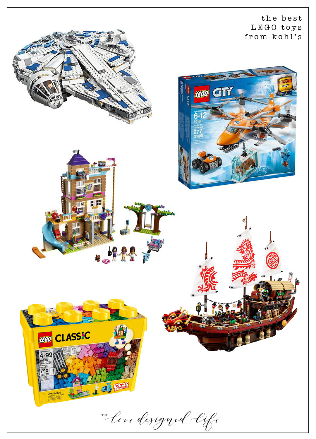 the best LEGO toys from kohl's for holiday toy shopping | thelovedesignedlife.com #holidaytoys @kohls #ad #lego #christmasgiftideas