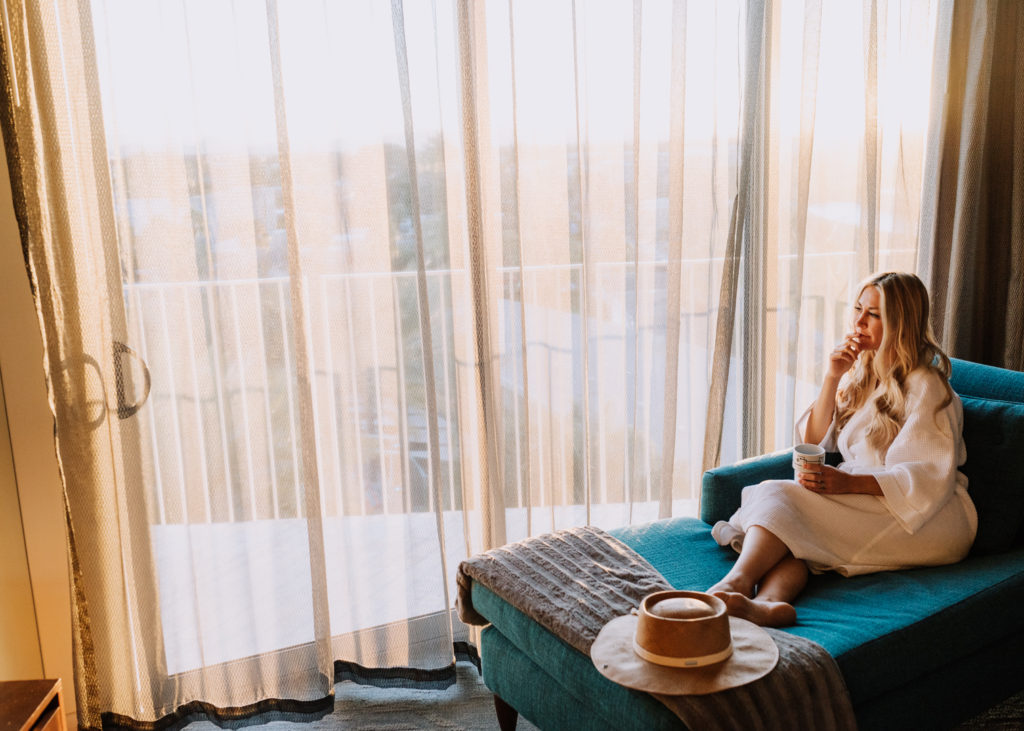 relaxing for a brief stay a Hotel Valley Ho in Scottsdale, Arizona | thelovedesignedlife.com #holiday #hotelvalleyho #arizona