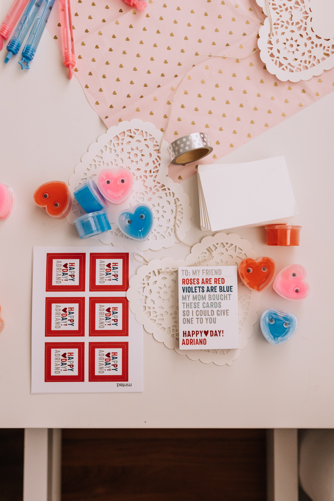 roses are read, violets are blue, my mom bought these cards, so I could give one to you! | thelovedesignedlife.com #cheekyvalentines #bigkidvalentines #noncandyvalentines