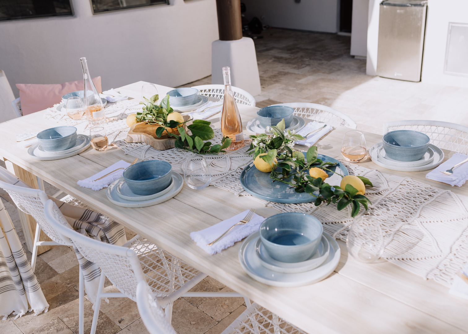 ready for a backyard brunch | thelovedesignedlife.com #tablescape #backyard #outdoordining