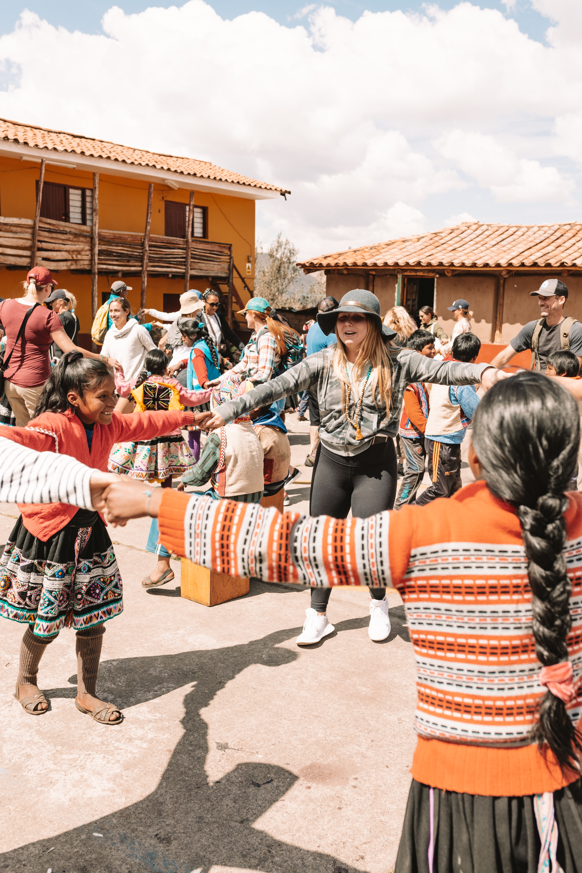 dancing together with the people of peru #thelovedesignedlife #peru #travel