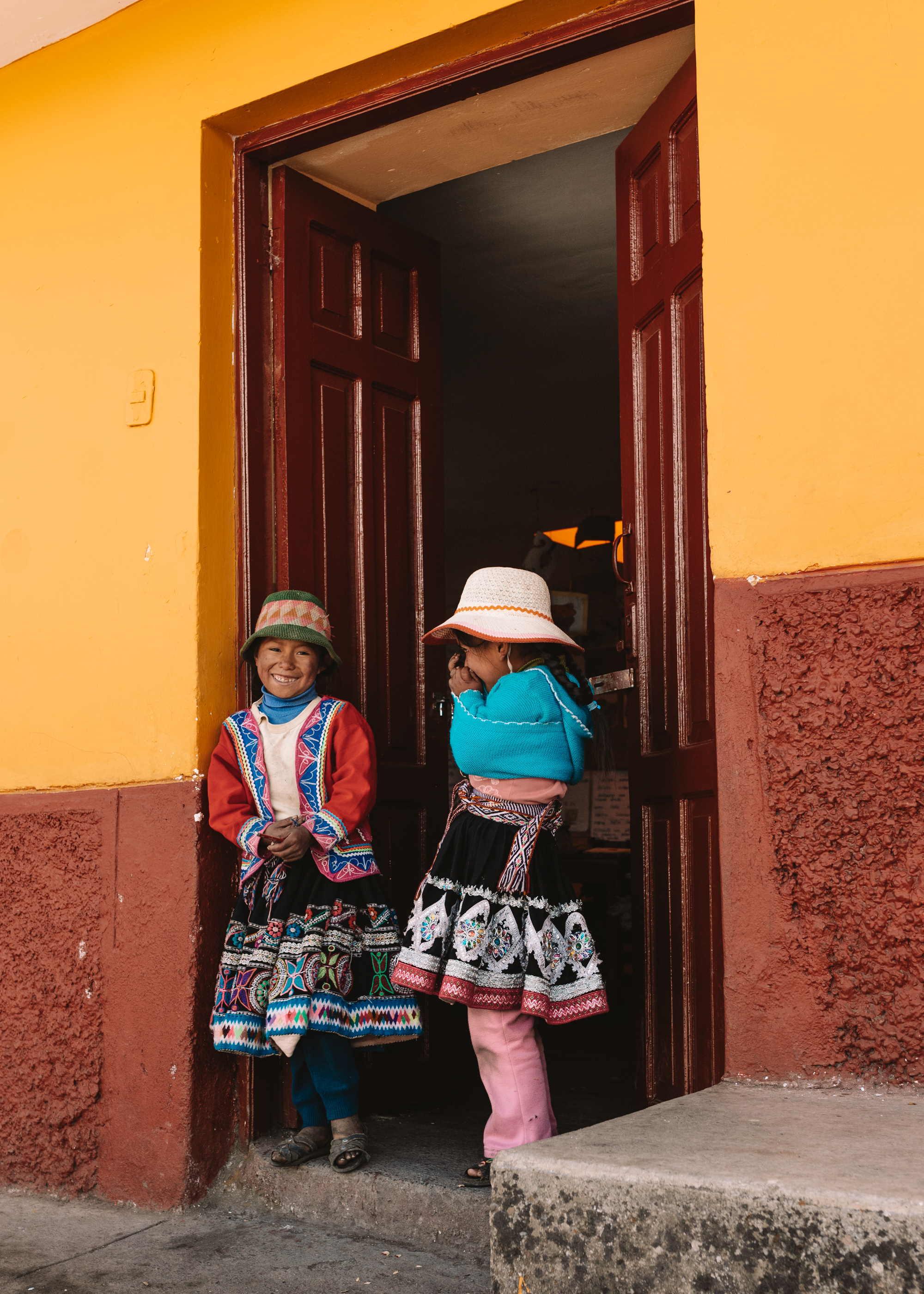 sweet little schoolgirls in the mountains of peru #thelovedesignedlife #travel #peruretreat