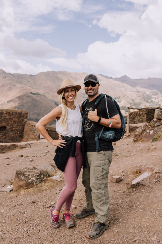 husband and wife exploring the magical sacred valley of peru.