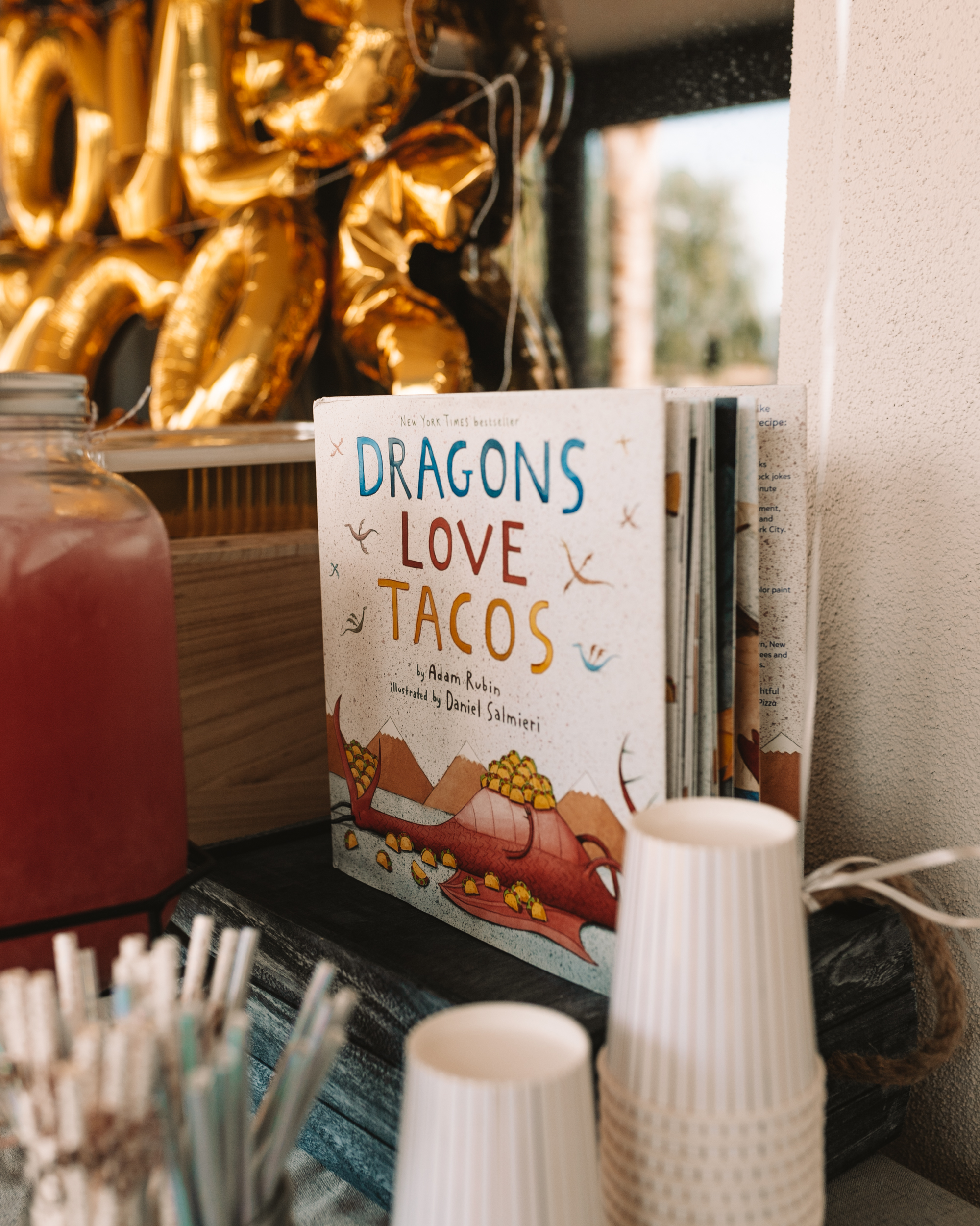 a fun kid's birthday party for a little boy who loves dragons and tacos
