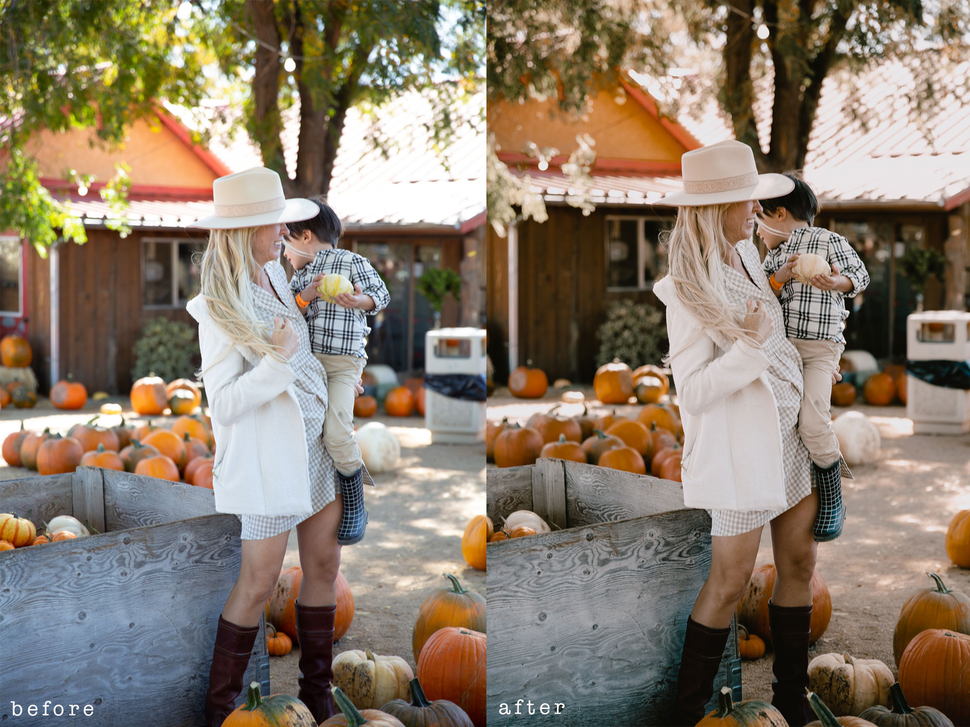new presets from the lovedesignedlife #theldlpresets #lightroompresets #pumpkinpatch #photoediting