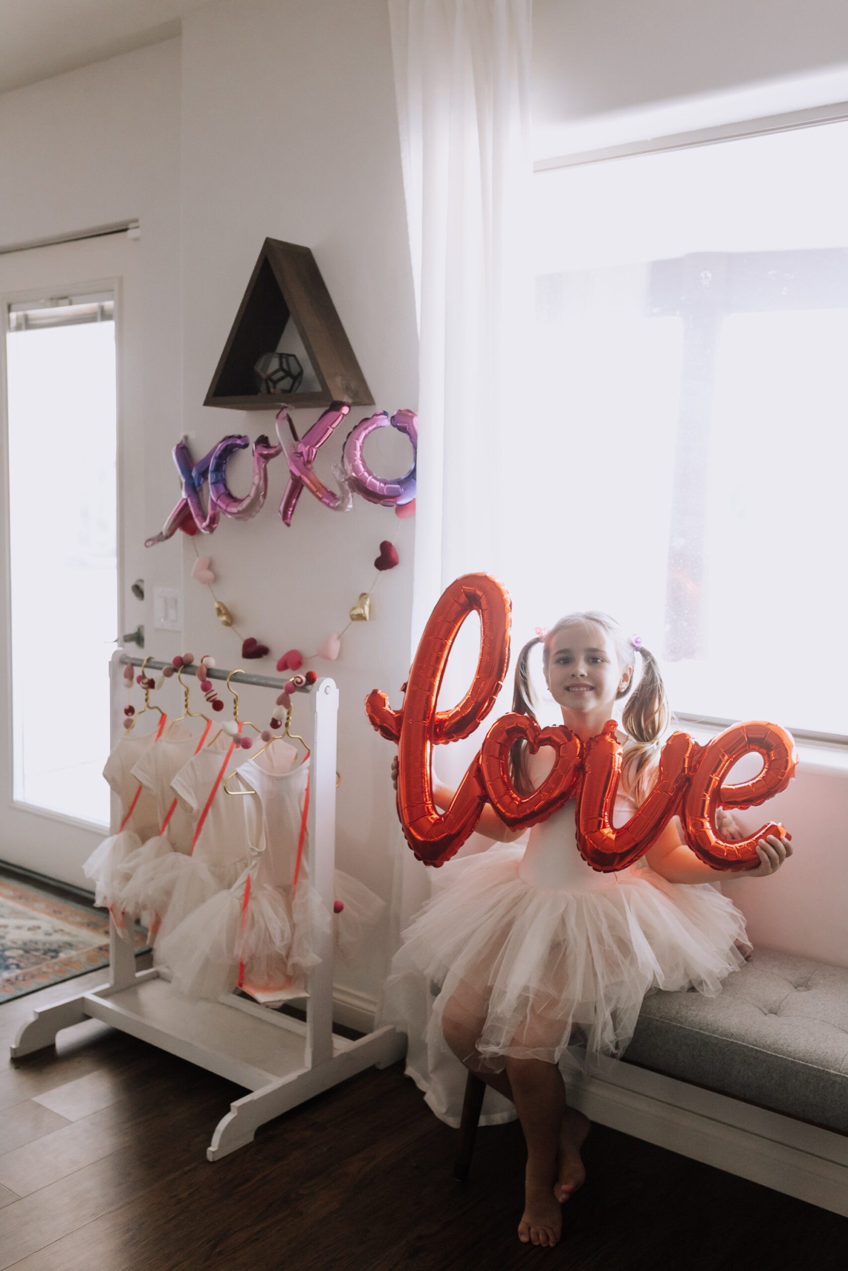 showing love for her fellow galentines with tutus for dress up! #thelovedesignedlife #galentinesday #tutucute