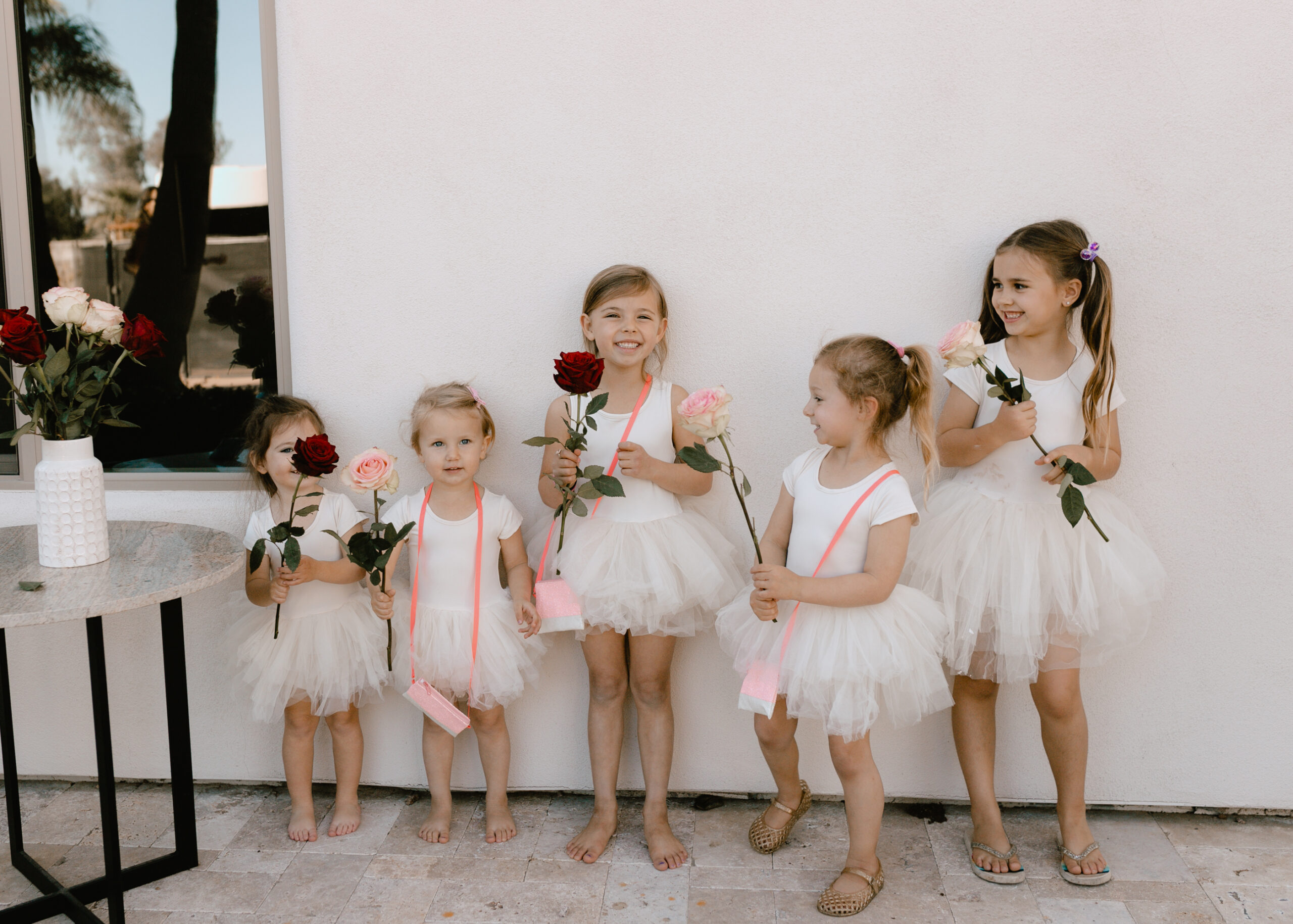 cute little girls in their matching tutus for a galentine's party! #thelovedesignedlife #valentinesday #iloveplum