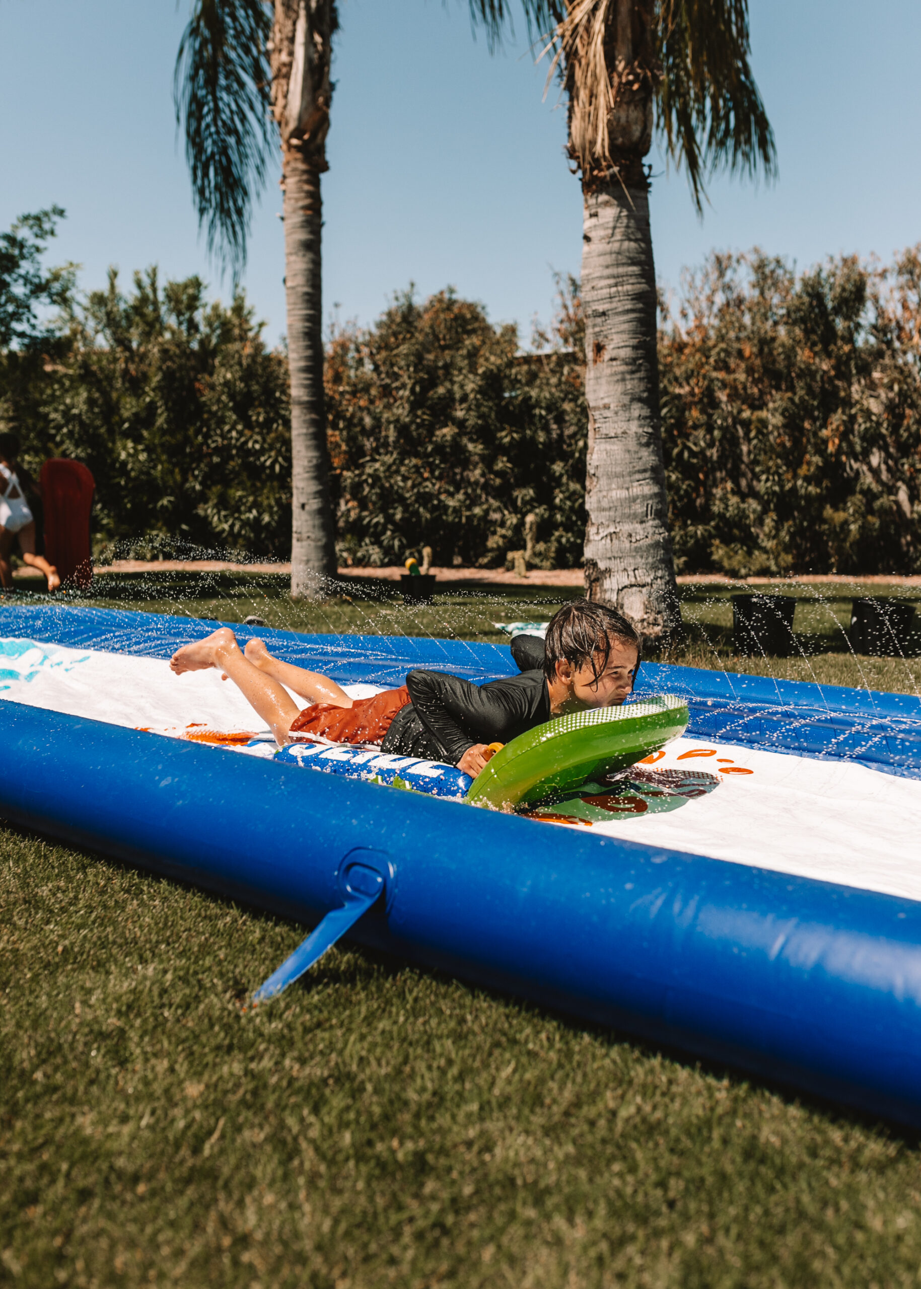 slip and slide water fun for our backyard field day! #slipandslide #backyardfun